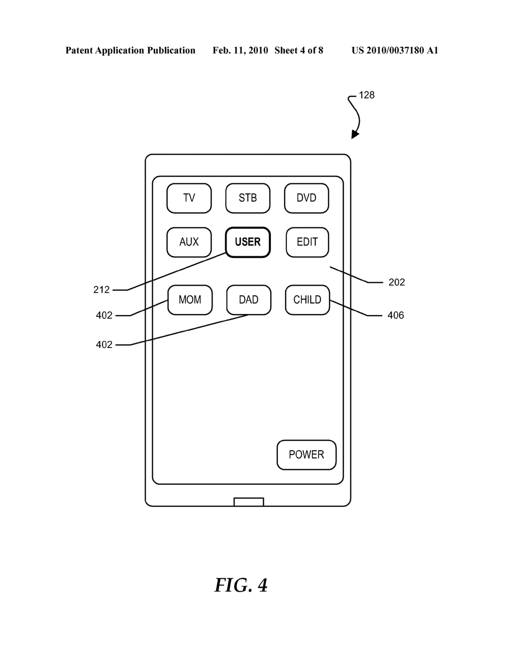 Touch Screen Remote Control with Dynamic Keypad Layouts - diagram, schematic, and image 05