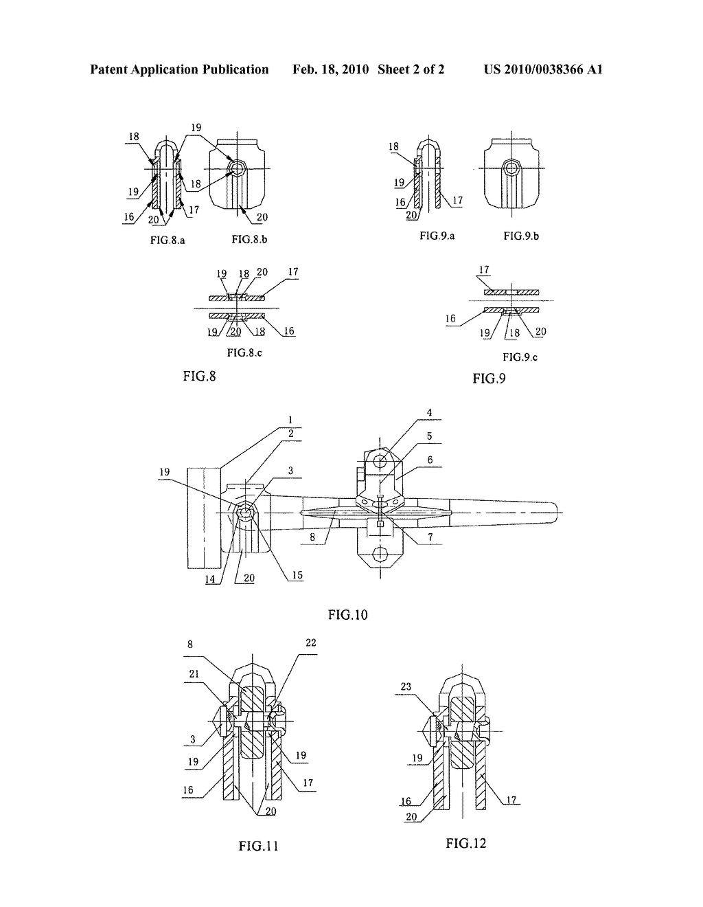 Locking bar anti-theft device for container - diagram, schematic, and image 03