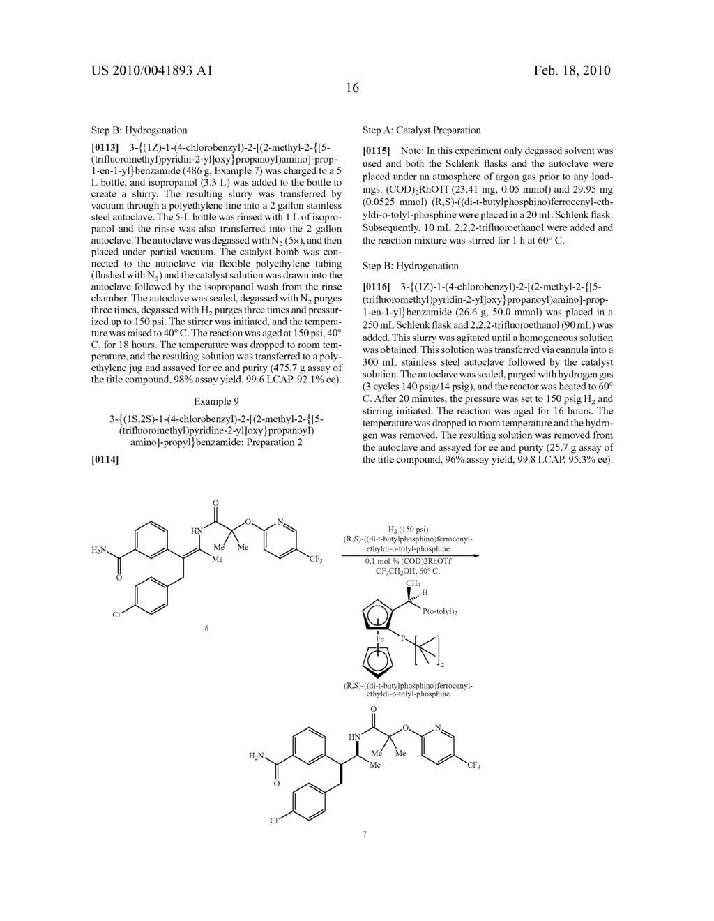 FORMATION OF TETRA-SUBSTITUTED ENAMIDES AND STEREOSELECTIVE REDUCTION THEREOF - diagram, schematic, and image 45
