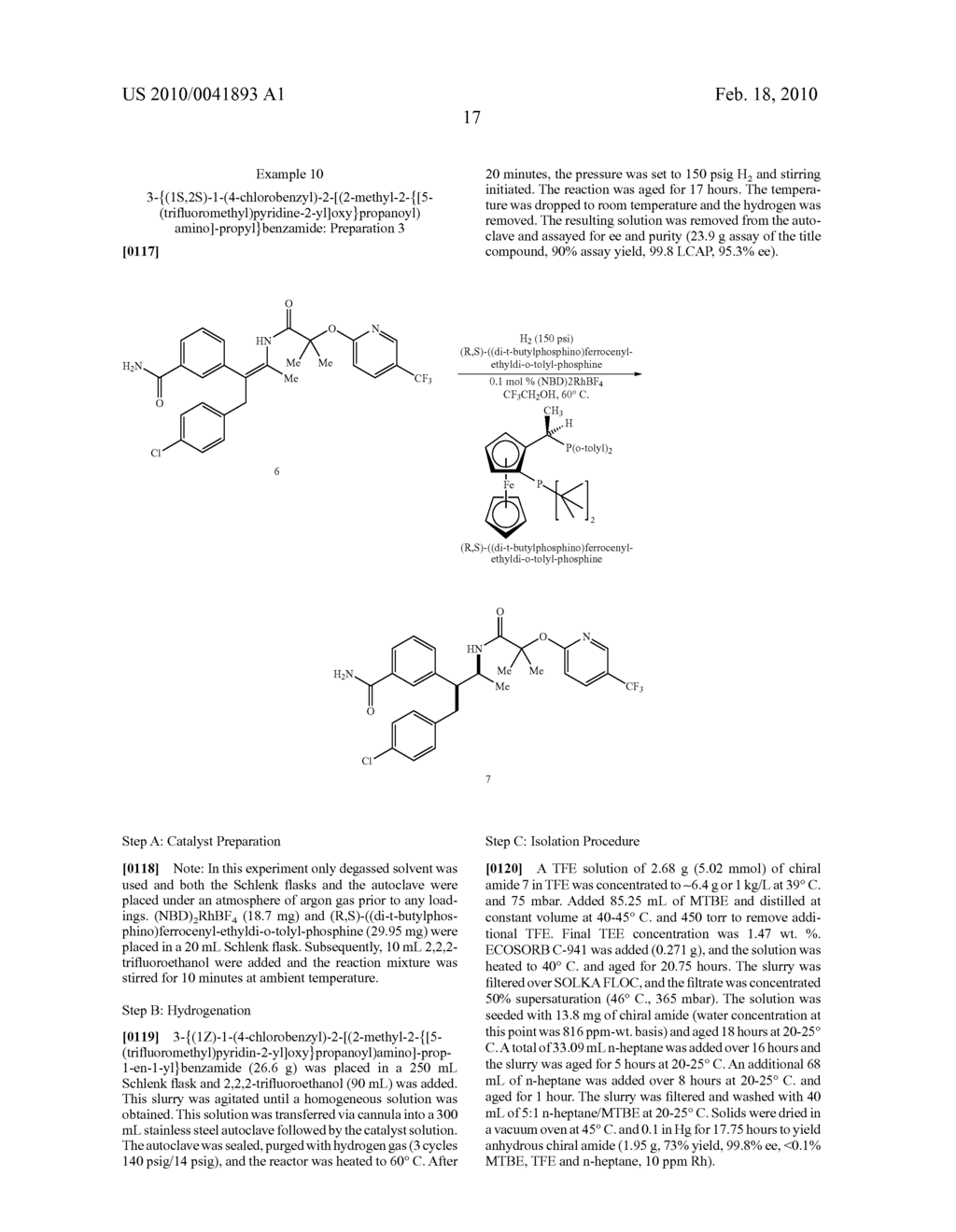 FORMATION OF TETRA-SUBSTITUTED ENAMIDES AND STEREOSELECTIVE REDUCTION THEREOF - diagram, schematic, and image 46