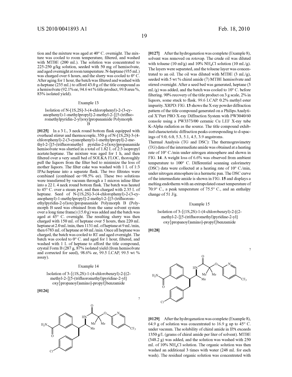 FORMATION OF TETRA-SUBSTITUTED ENAMIDES AND STEREOSELECTIVE REDUCTION THEREOF - diagram, schematic, and image 48