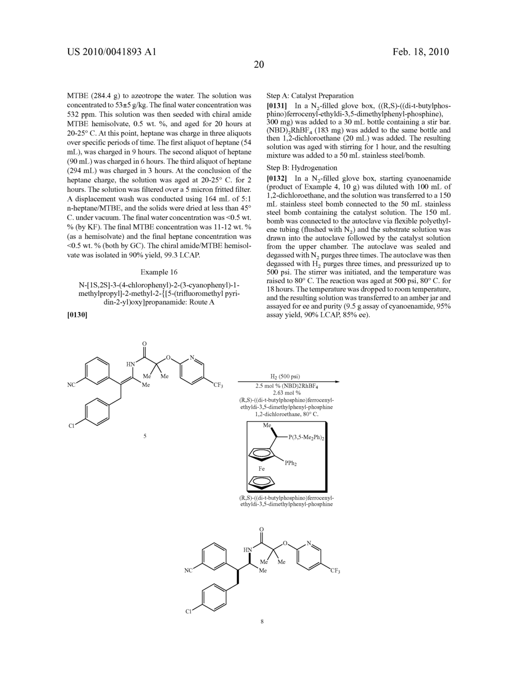 FORMATION OF TETRA-SUBSTITUTED ENAMIDES AND STEREOSELECTIVE REDUCTION THEREOF - diagram, schematic, and image 49