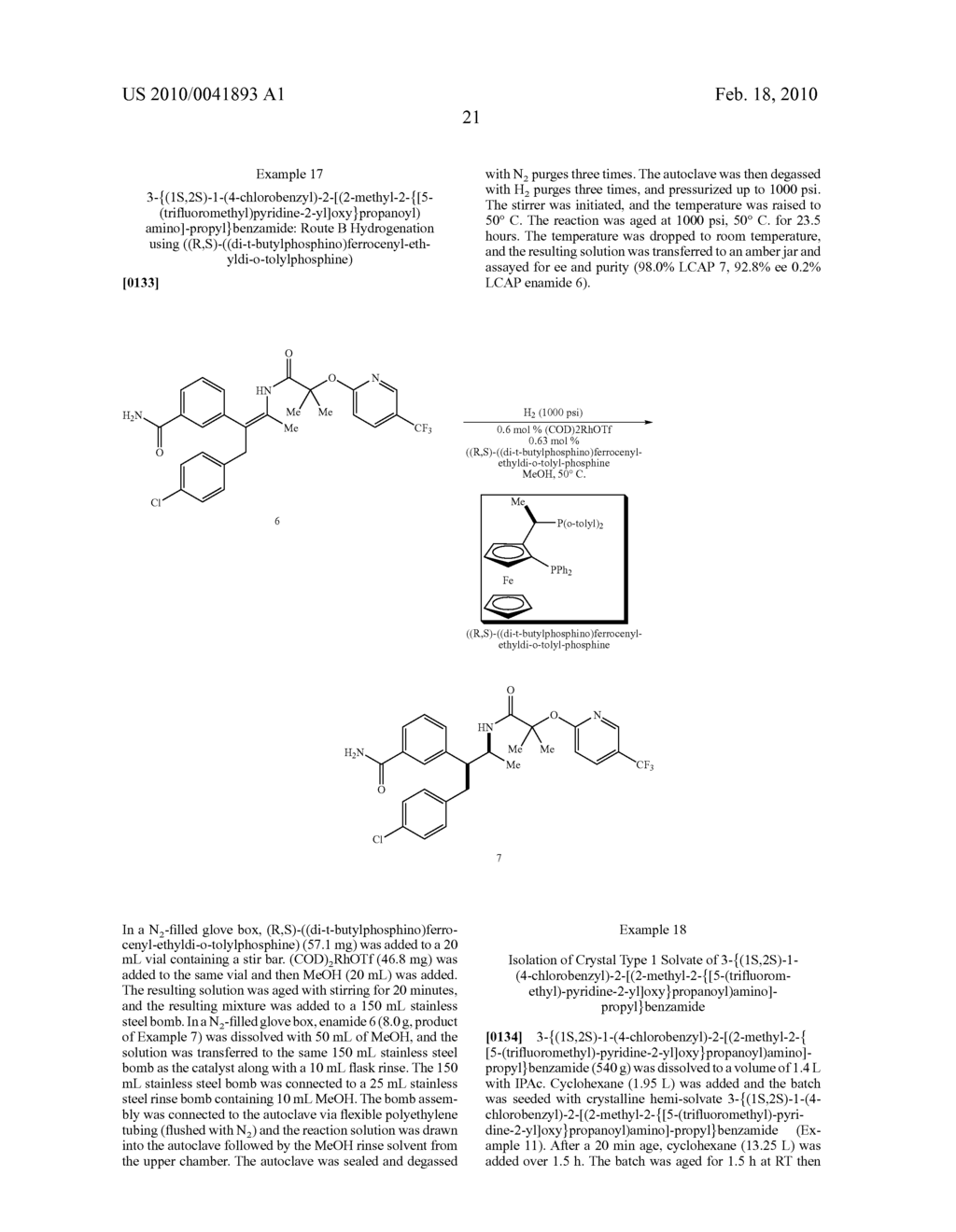 FORMATION OF TETRA-SUBSTITUTED ENAMIDES AND STEREOSELECTIVE REDUCTION THEREOF - diagram, schematic, and image 50