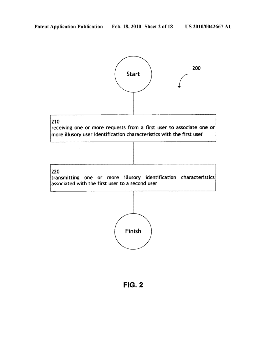 System and method for transmitting illusory identification characteristics - diagram, schematic, and image 03