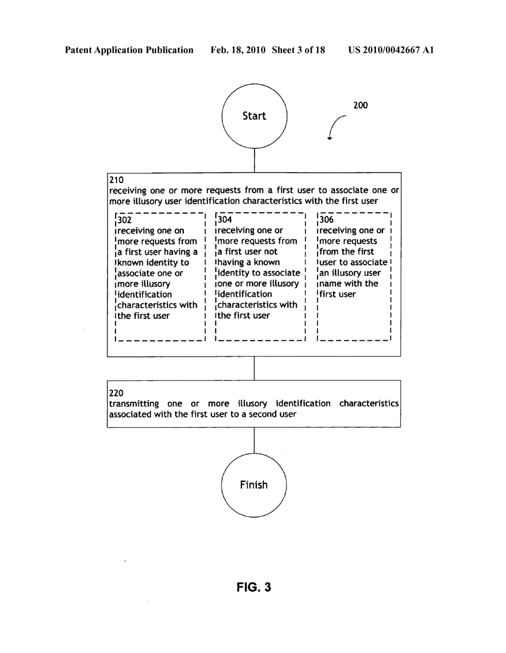 System and method for transmitting illusory identification characteristics - diagram, schematic, and image 04