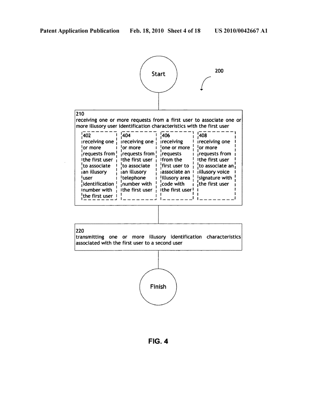 System and method for transmitting illusory identification characteristics - diagram, schematic, and image 05