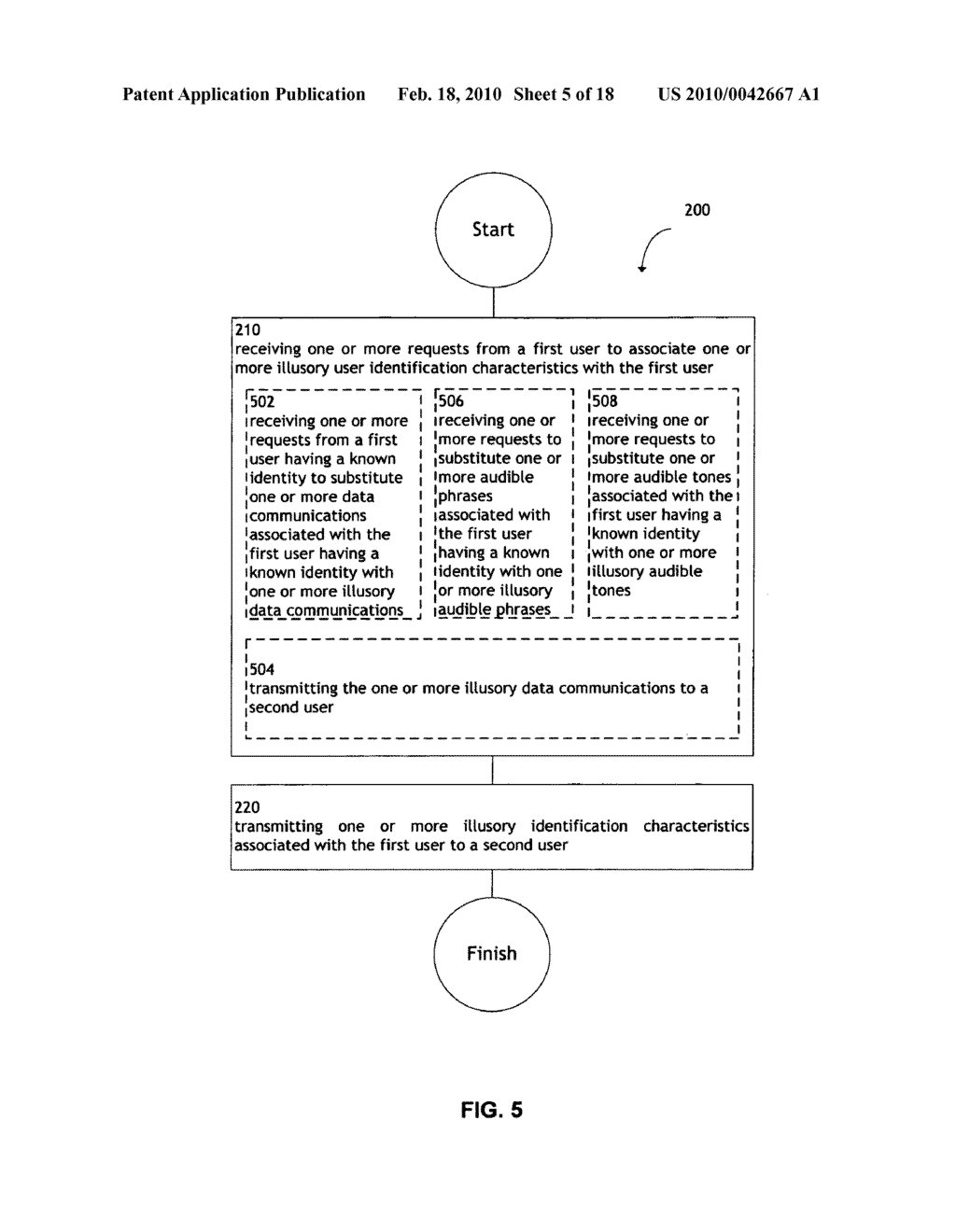 System and method for transmitting illusory identification characteristics - diagram, schematic, and image 06