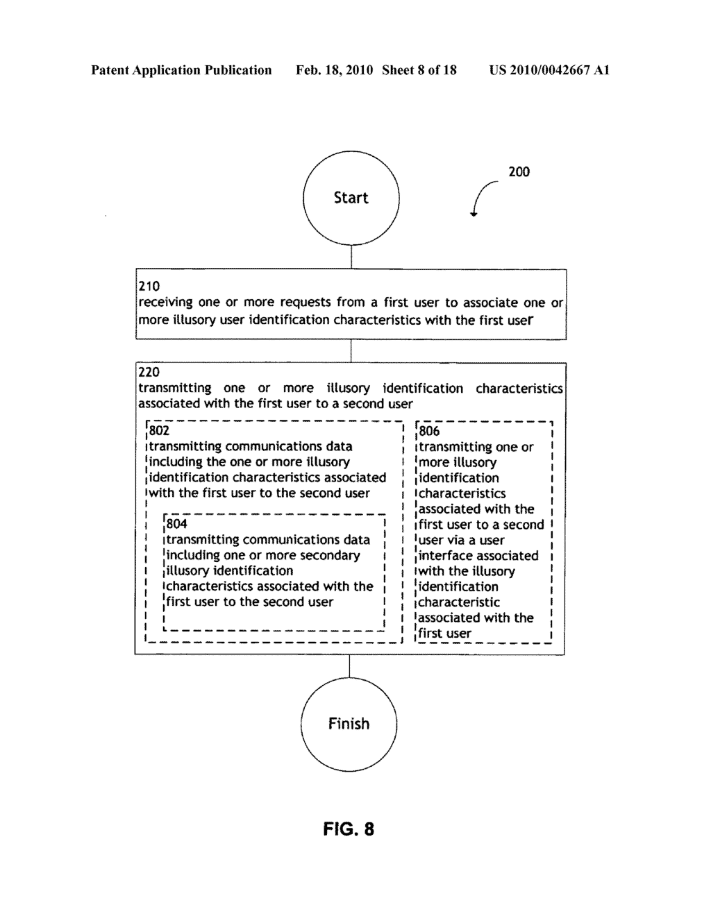 System and method for transmitting illusory identification characteristics - diagram, schematic, and image 09