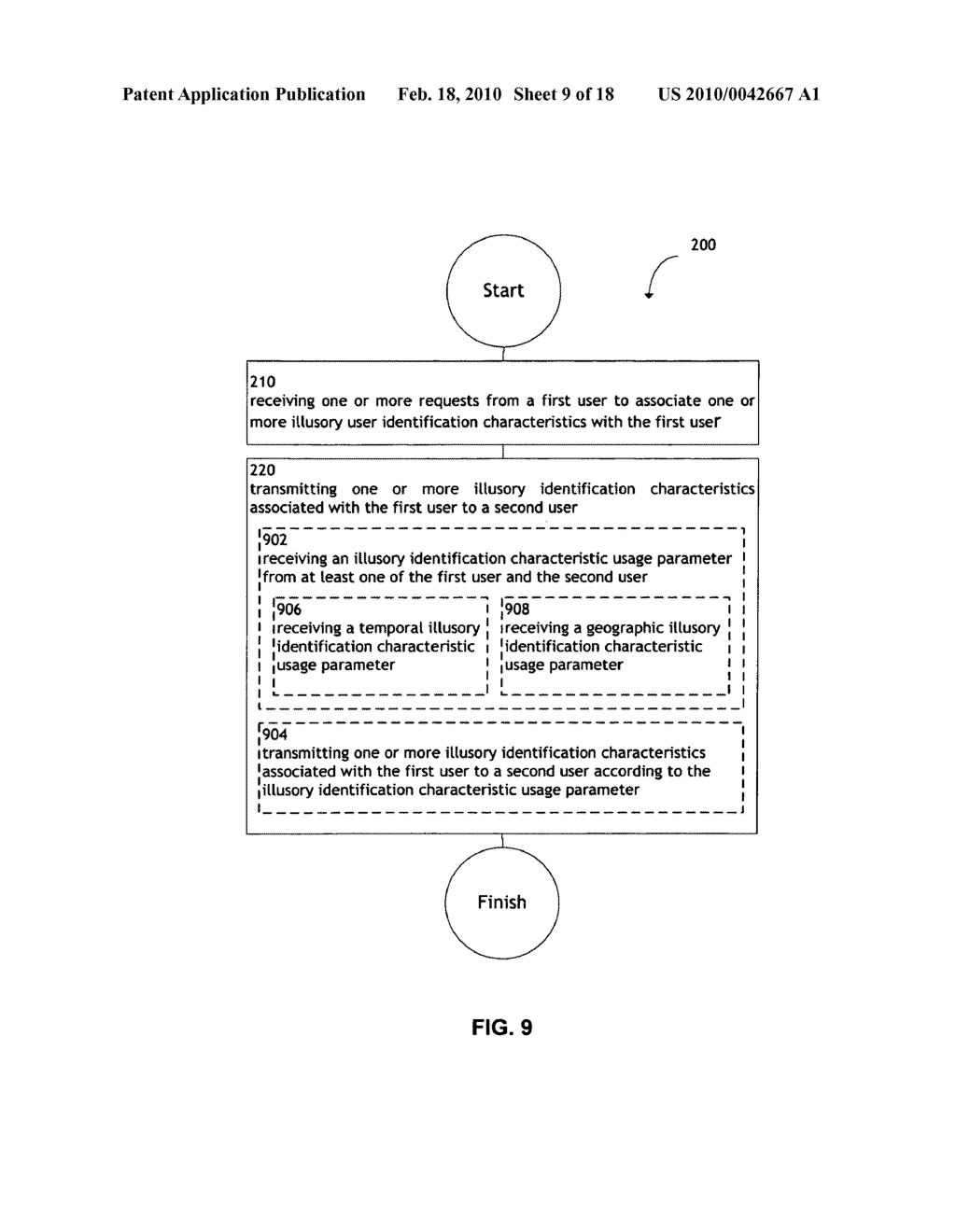 System and method for transmitting illusory identification characteristics - diagram, schematic, and image 10