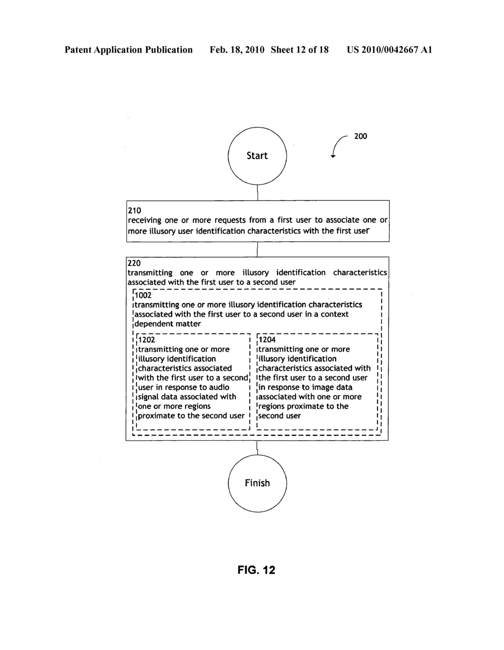 System and method for transmitting illusory identification characteristics - diagram, schematic, and image 13