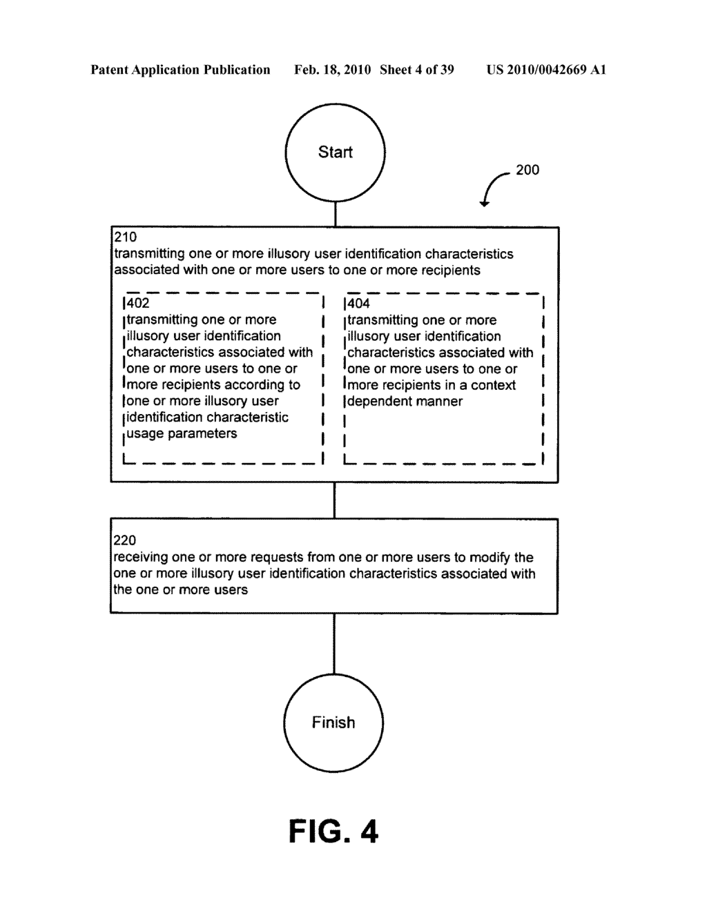 System and method for modifying illusory user identification characteristics - diagram, schematic, and image 05
