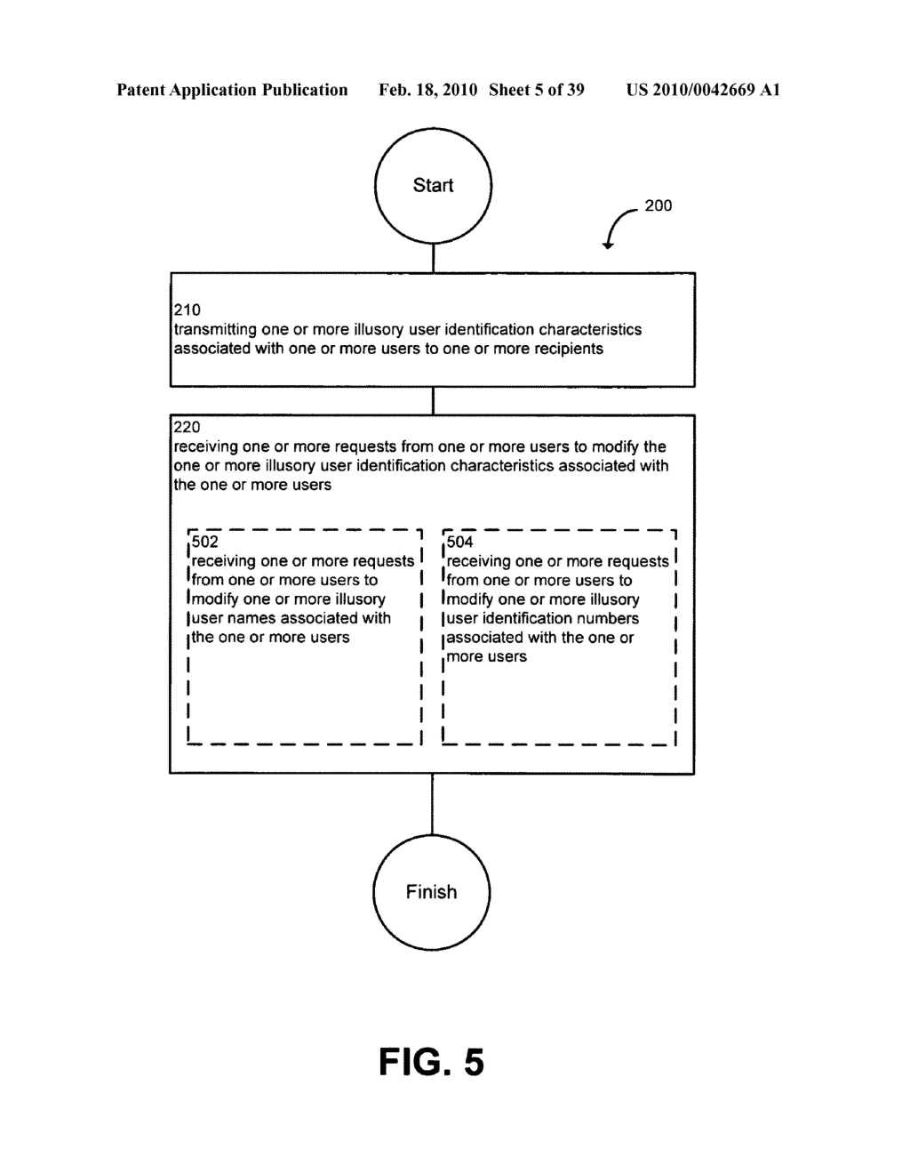 System and method for modifying illusory user identification characteristics - diagram, schematic, and image 06