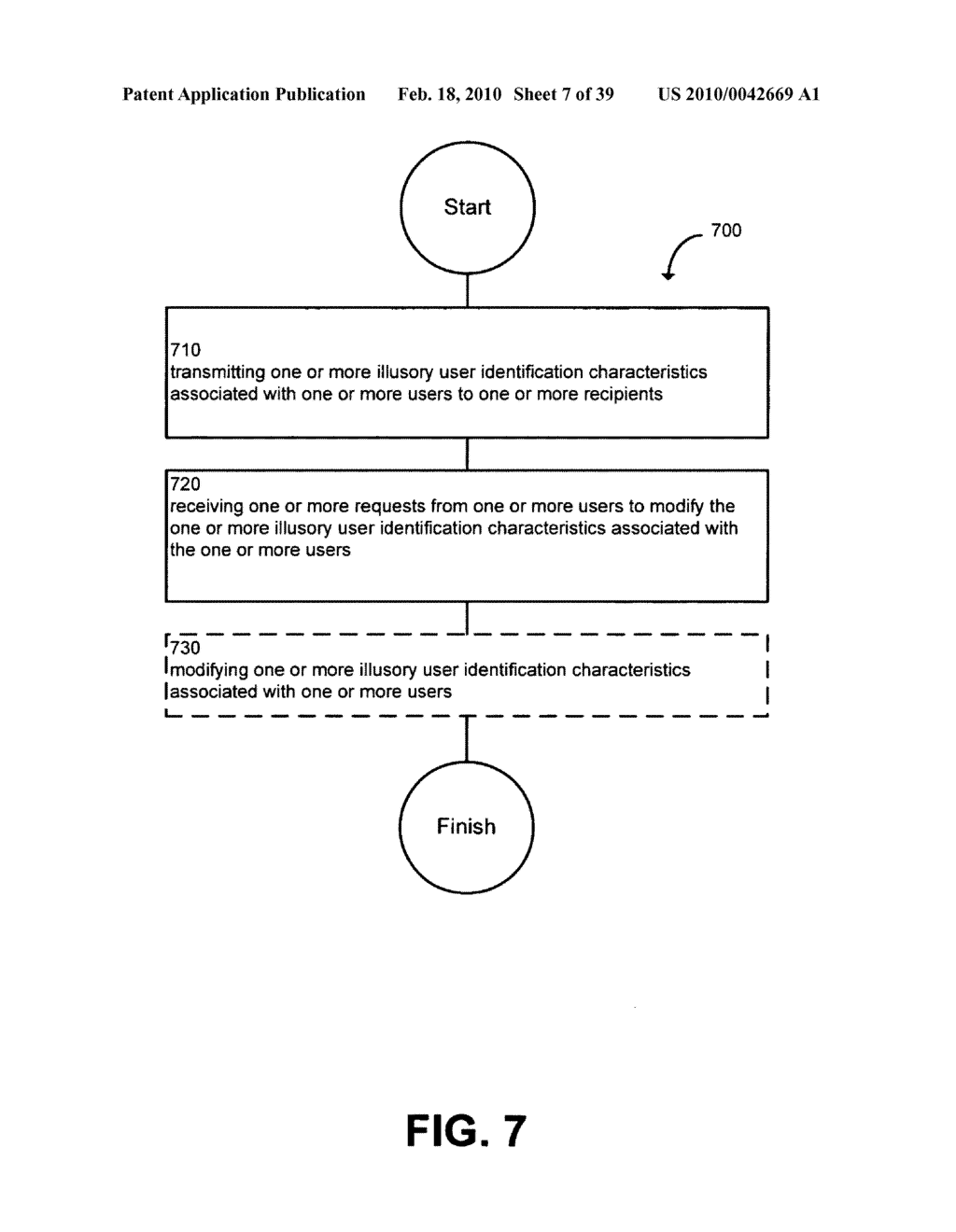 System and method for modifying illusory user identification characteristics - diagram, schematic, and image 08