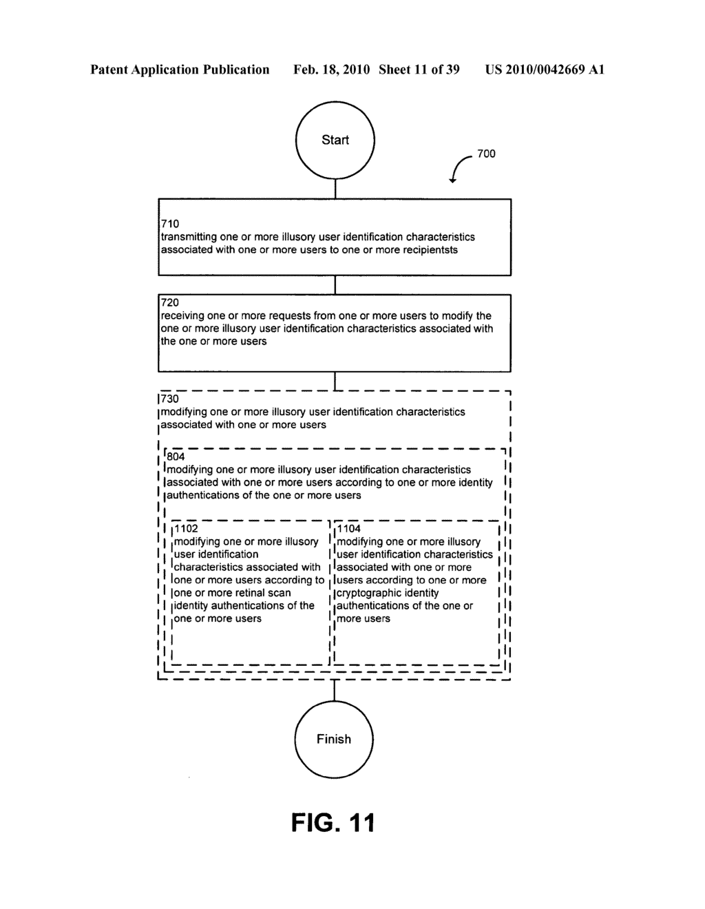 System and method for modifying illusory user identification characteristics - diagram, schematic, and image 12
