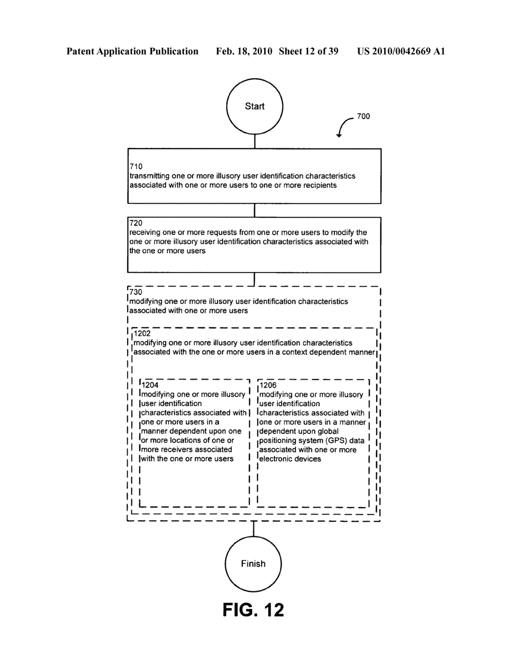 System and method for modifying illusory user identification characteristics - diagram, schematic, and image 13