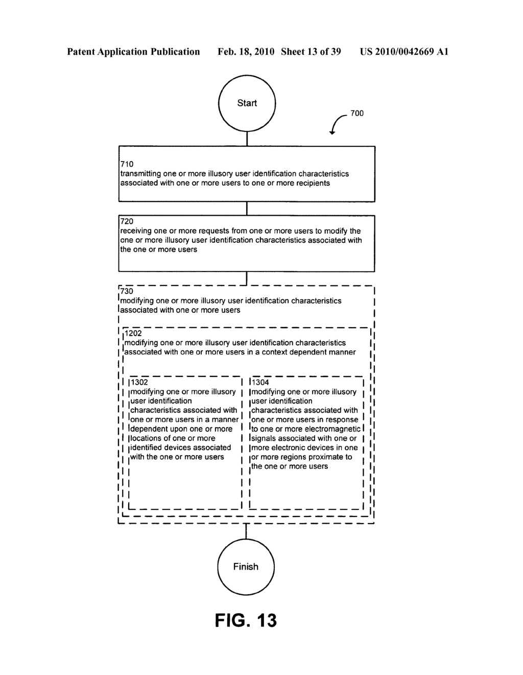 System and method for modifying illusory user identification characteristics - diagram, schematic, and image 14