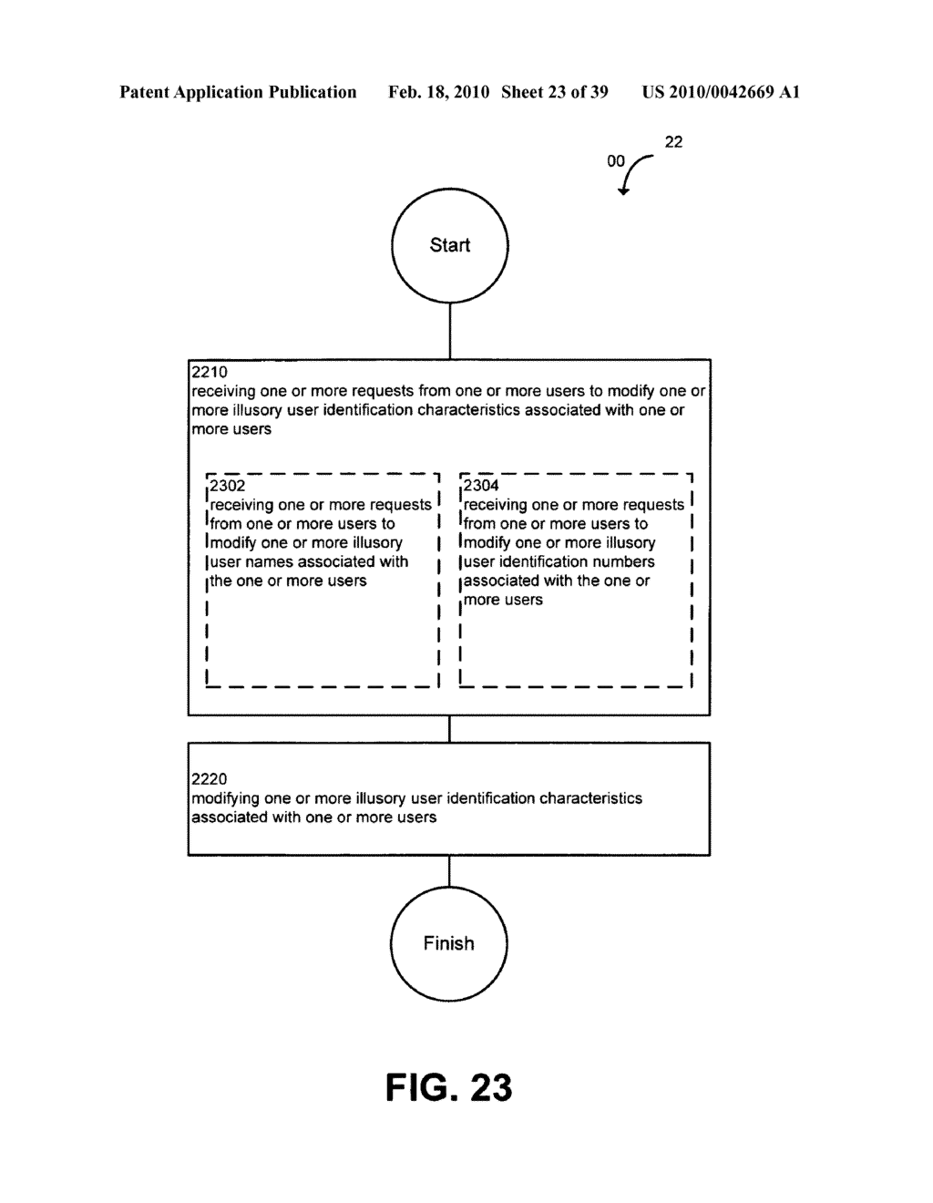 System and method for modifying illusory user identification characteristics - diagram, schematic, and image 24