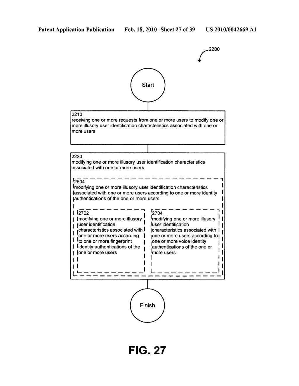 System and method for modifying illusory user identification characteristics - diagram, schematic, and image 28