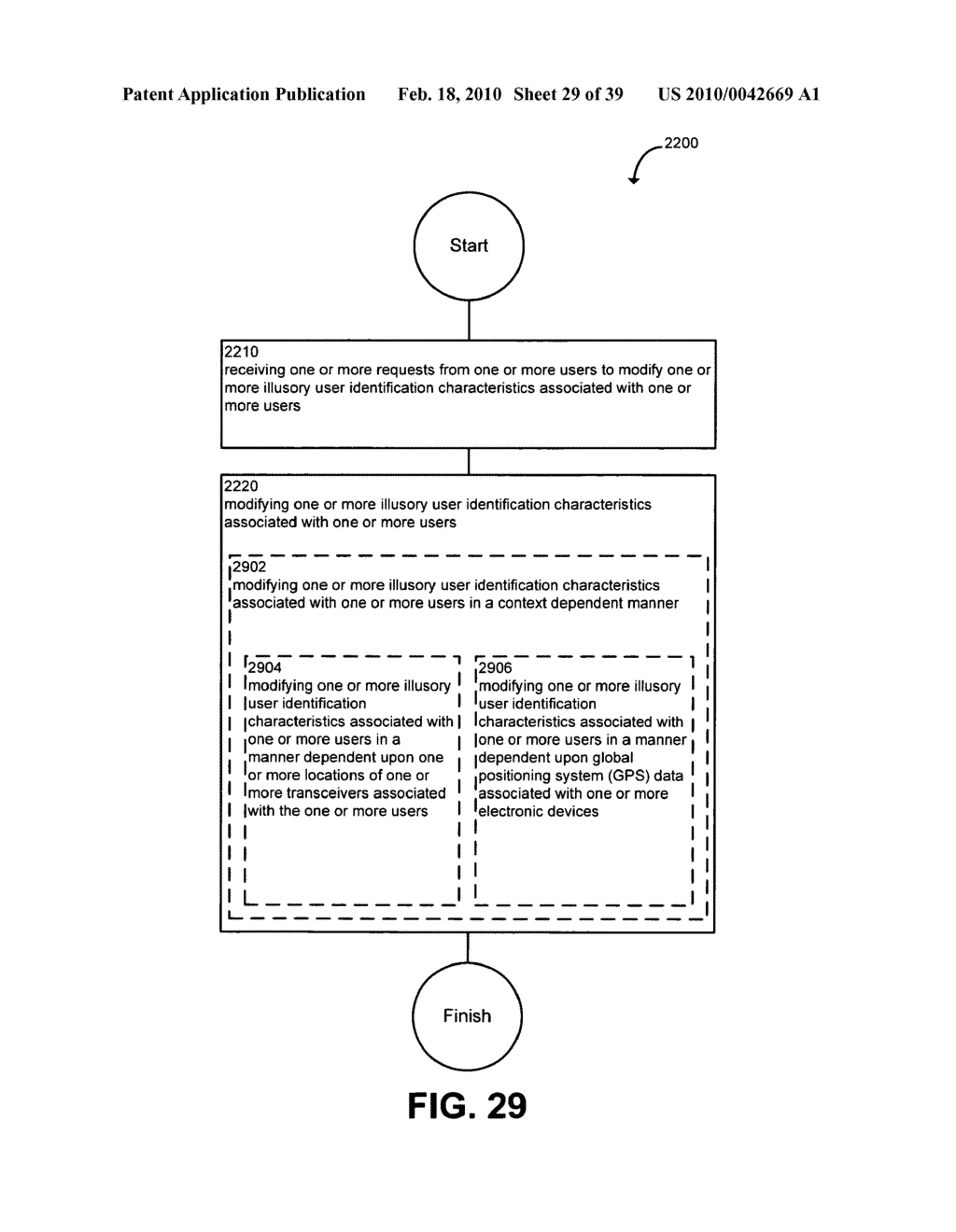 System and method for modifying illusory user identification characteristics - diagram, schematic, and image 30