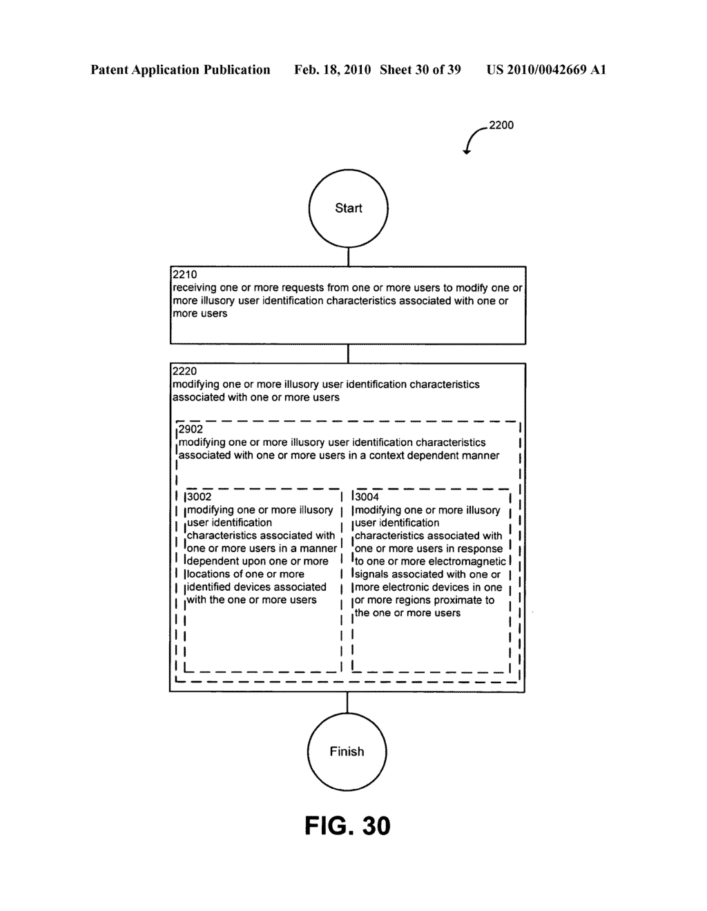 System and method for modifying illusory user identification characteristics - diagram, schematic, and image 31