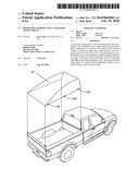 REMOVABLE AERODYNAMIC COVER FOR PICKUP TRUCK diagram and image