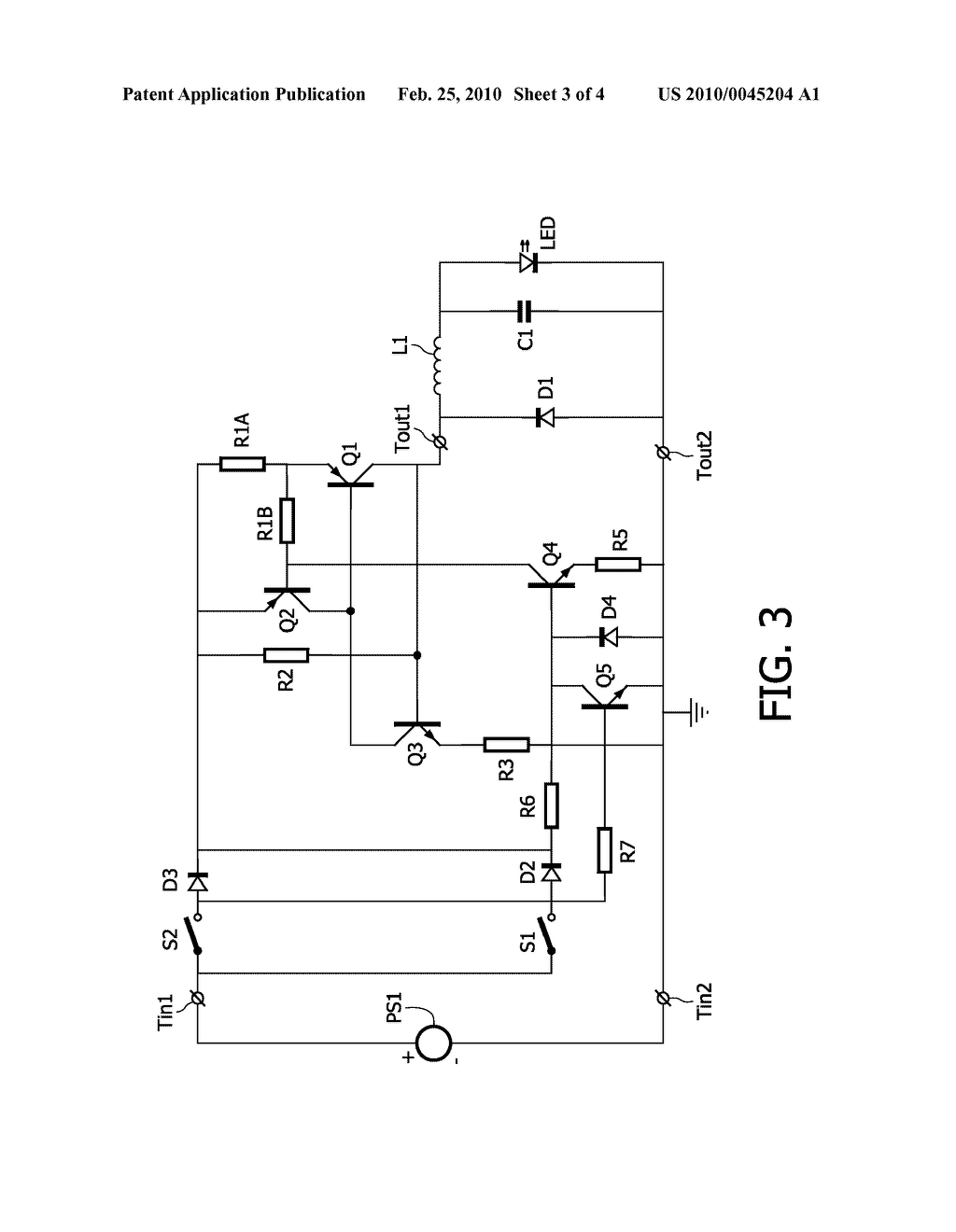Self Oscillating Switch Circuit For Use In A Switching Dc To Converter Diagram Schematic And Image 04