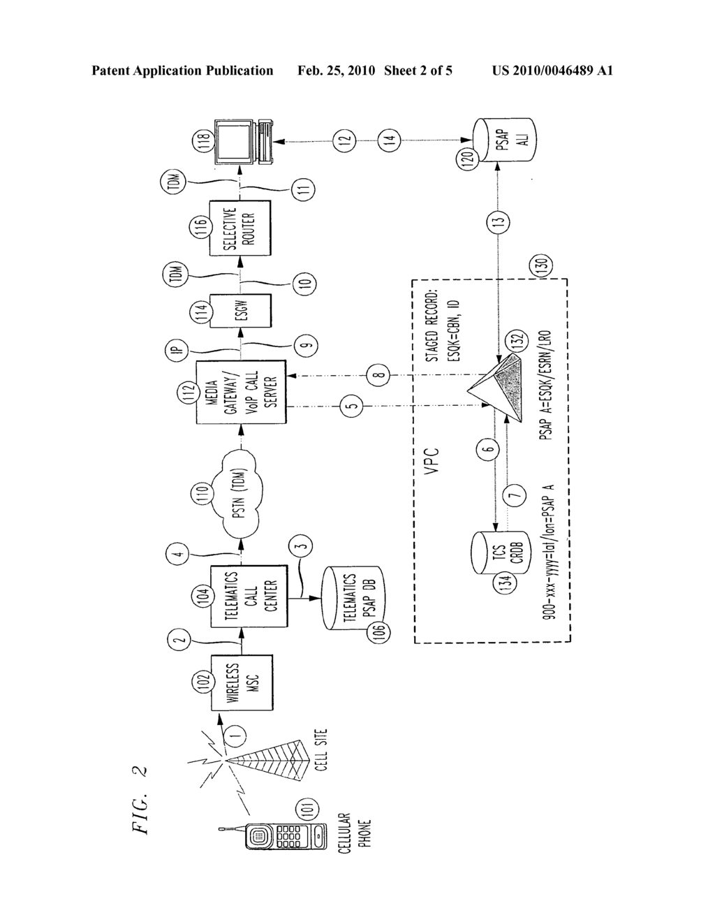 Enhanced E911 network access for a call center using session initiation protocol (SIP) messaging - diagram, schematic, and image 03