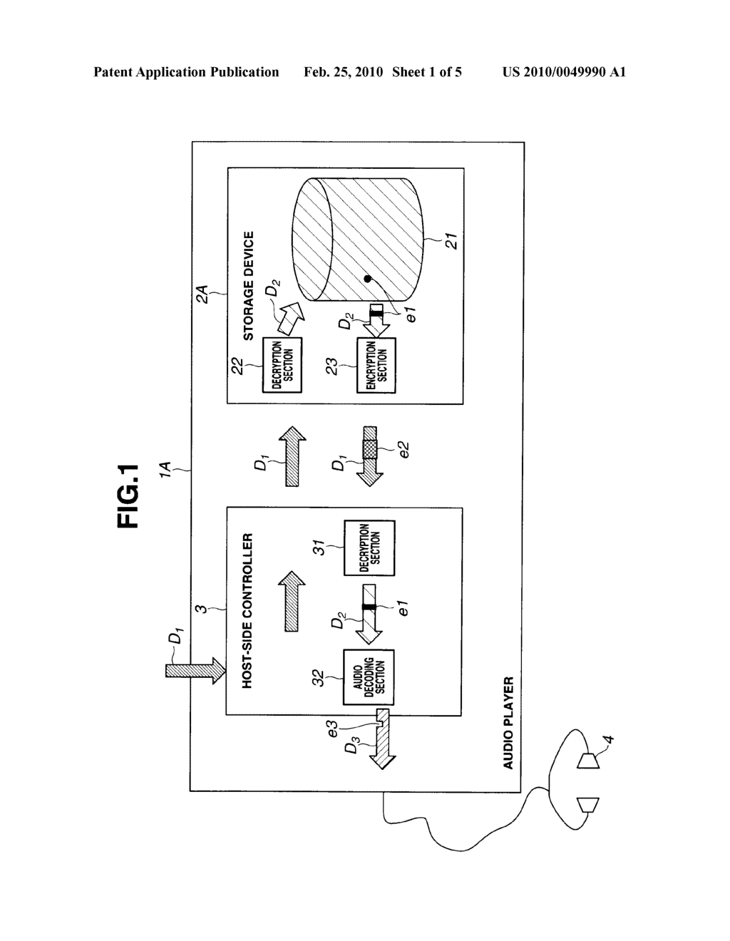 STORAGE DEVICE AND RECORDING AND REPRODUCING SYSTEM - diagram, schematic, and image 02