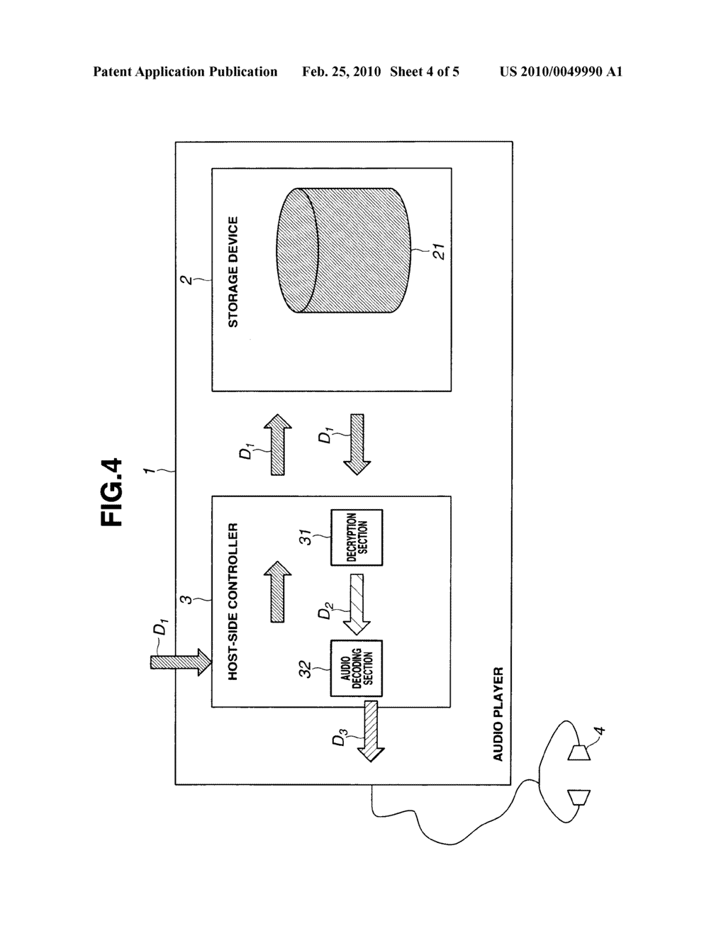 STORAGE DEVICE AND RECORDING AND REPRODUCING SYSTEM - diagram, schematic, and image 05