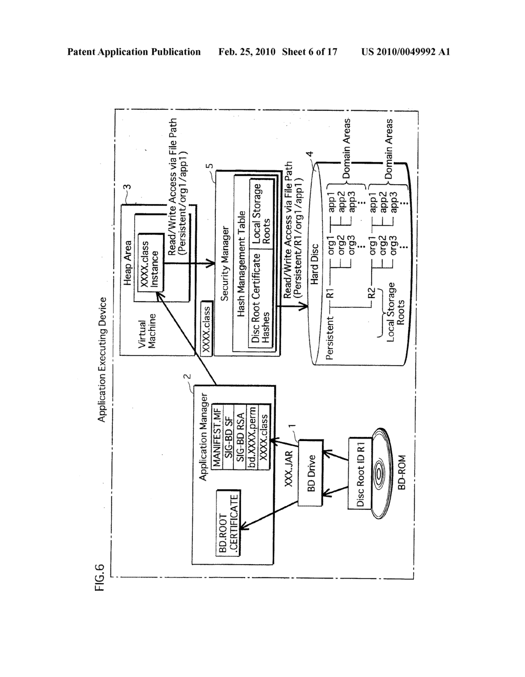 APPLICATION EXECUTING DEVICE, MANAGING METHOD, AND PROGRAM - diagram, schematic, and image 07