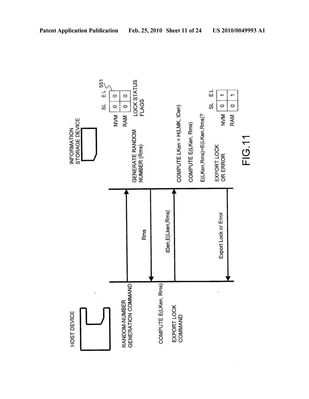 SYSTEMS AND METHODS FOR LOCKING AND EXPORTING THE LOCKING OF A REMOVABLE MEMORY DEVICE - diagram, schematic, and image 12