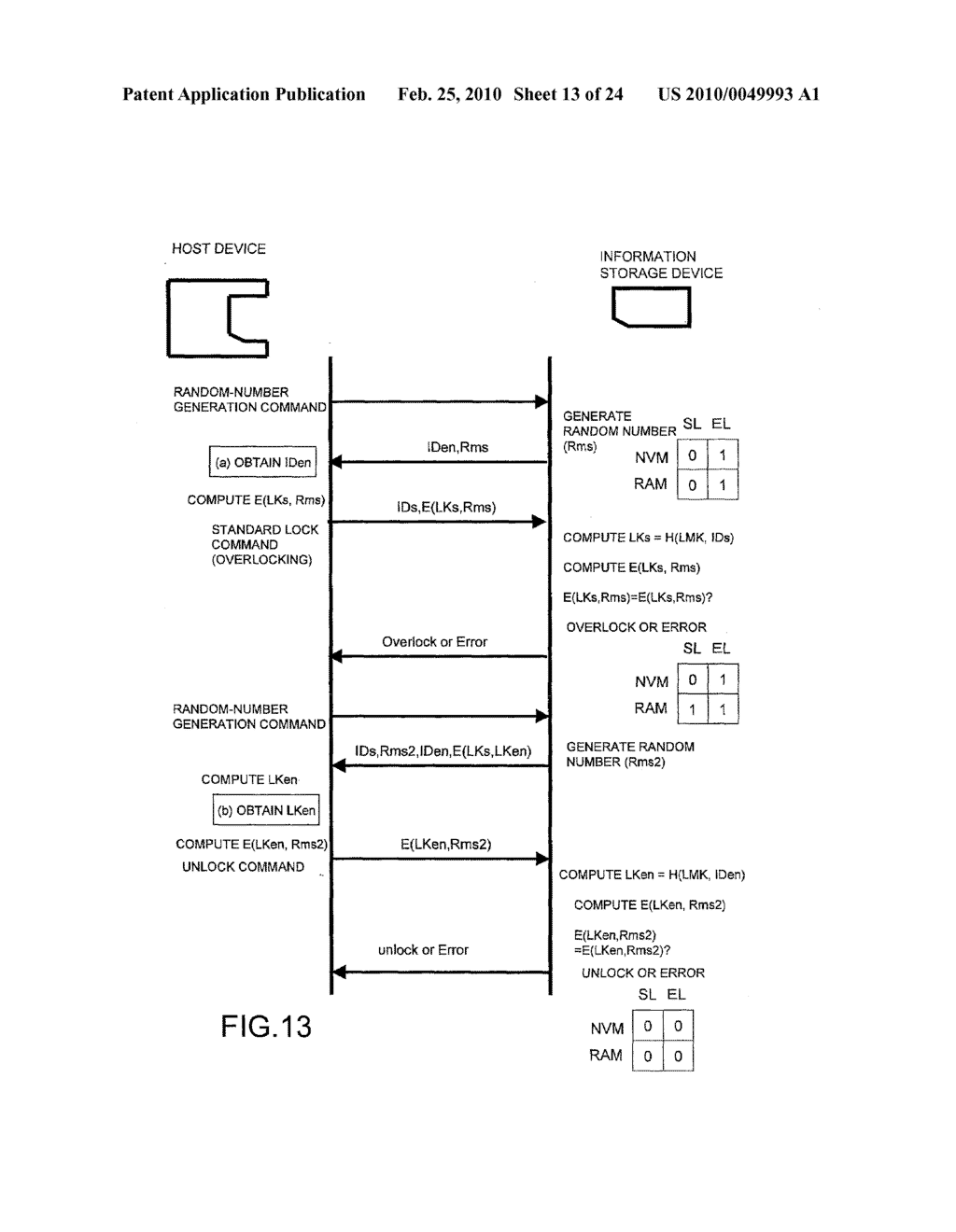 SYSTEMS AND METHODS FOR LOCKING AND EXPORTING THE LOCKING OF A REMOVABLE MEMORY DEVICE - diagram, schematic, and image 14