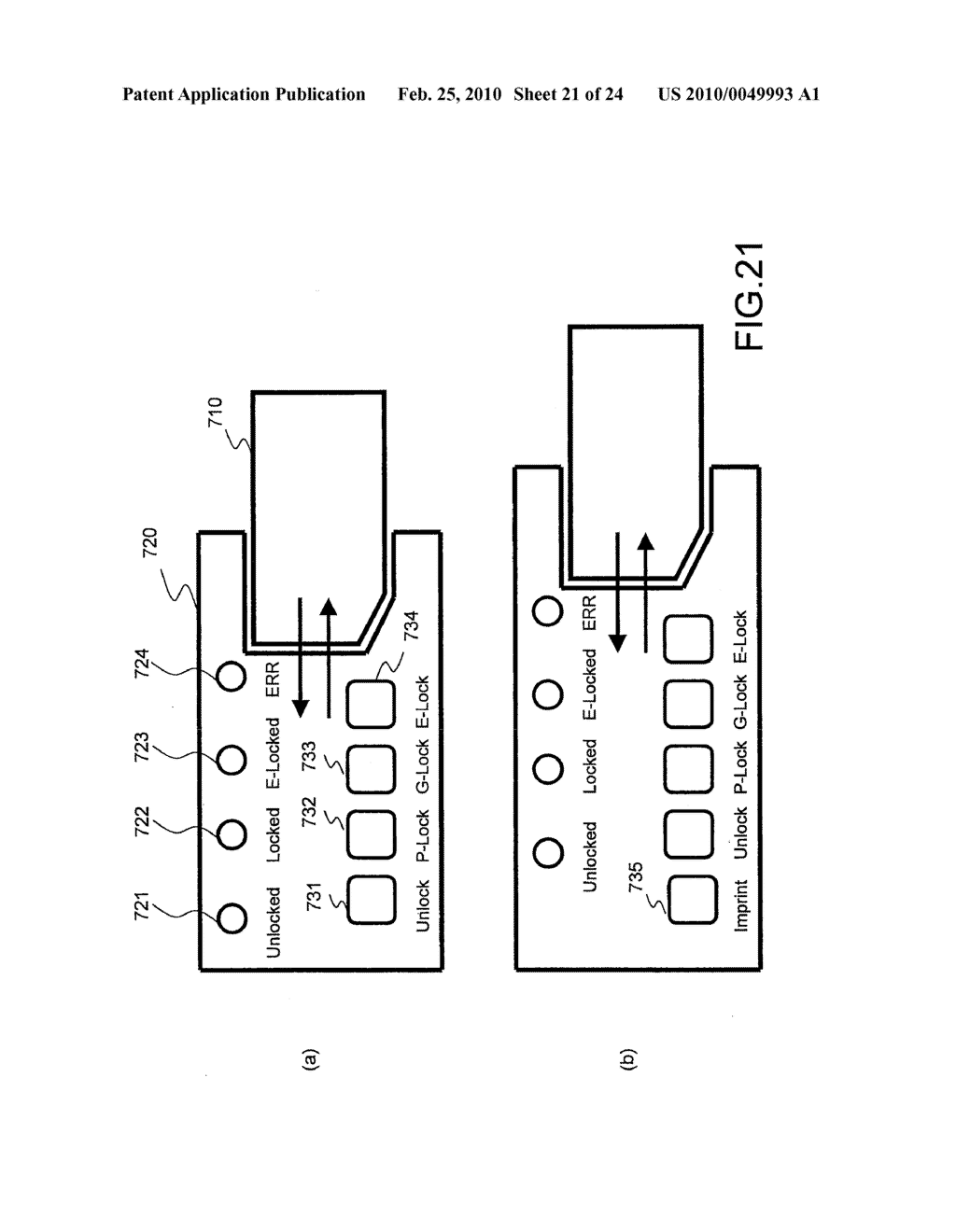 SYSTEMS AND METHODS FOR LOCKING AND EXPORTING THE LOCKING OF A REMOVABLE MEMORY DEVICE - diagram, schematic, and image 22