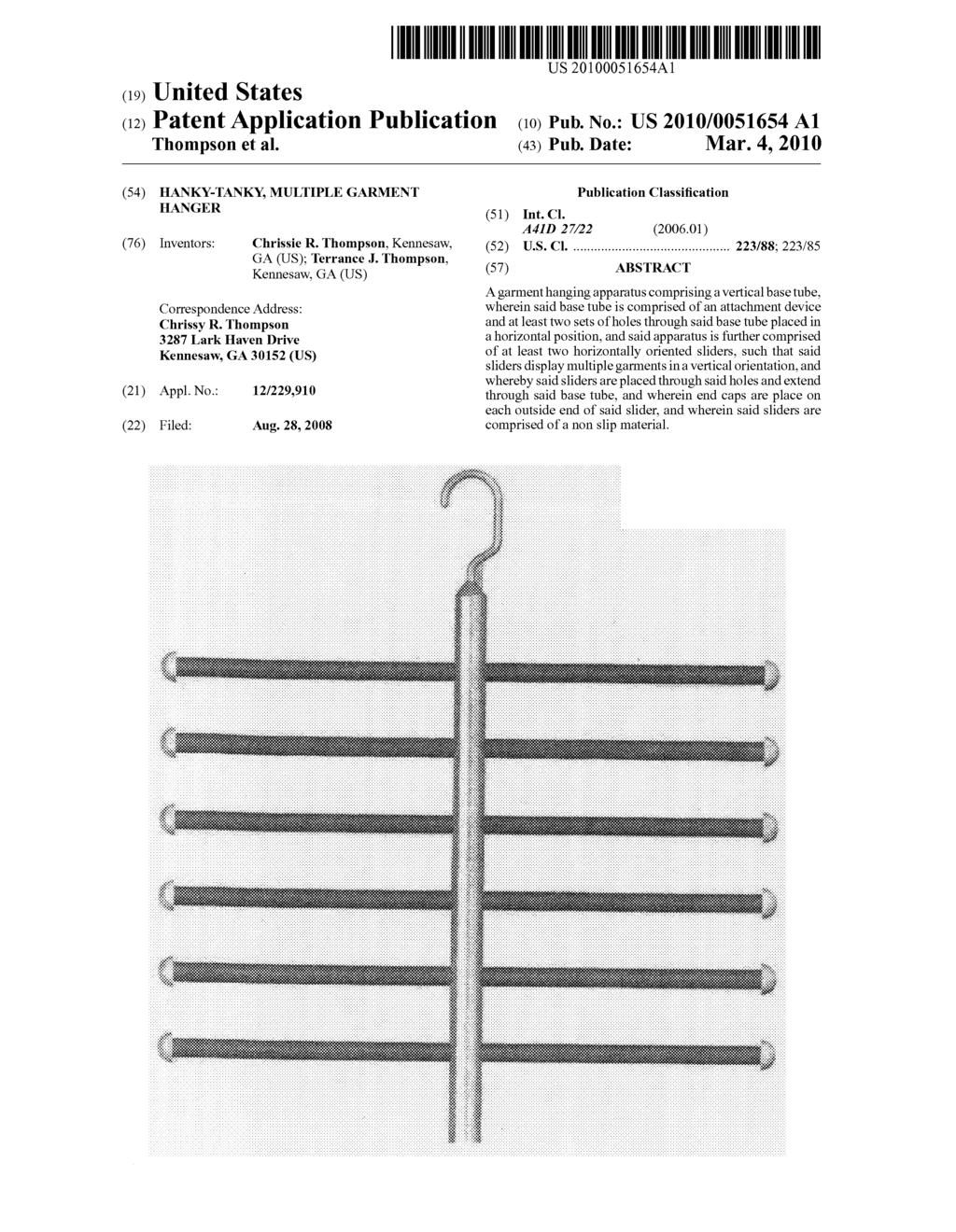 Hanky-tanky, multiple garment hanger - diagram, schematic, and image 01