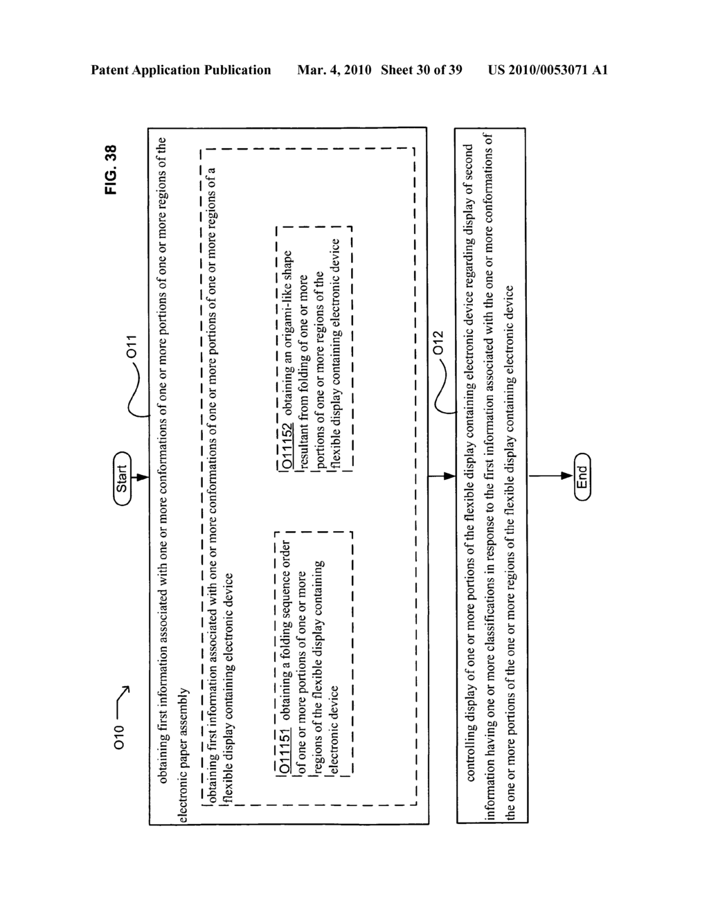 Display control of classified content based on flexible display containing electronic device conformation - diagram, schematic, and image 31