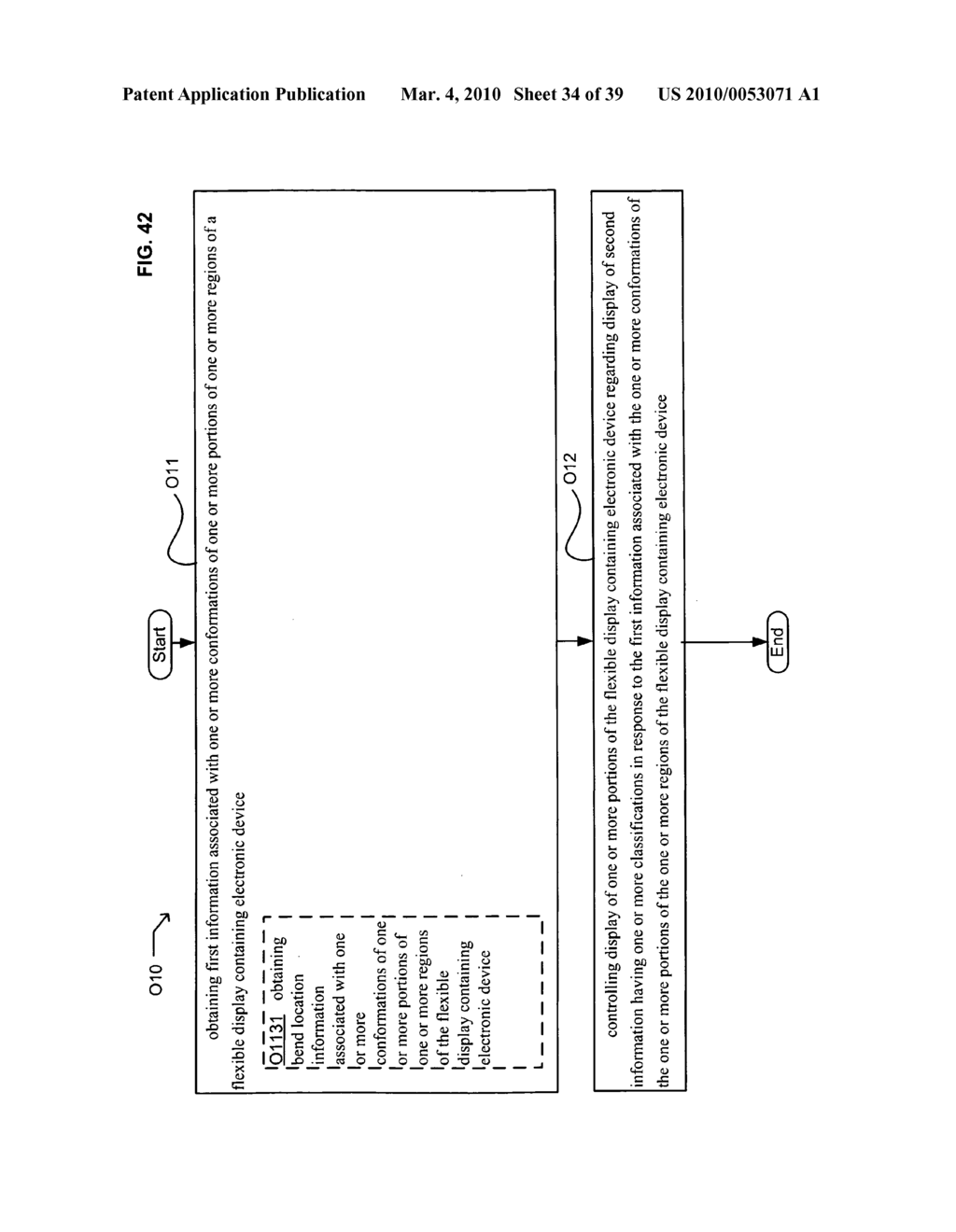 Display control of classified content based on flexible display containing electronic device conformation - diagram, schematic, and image 35