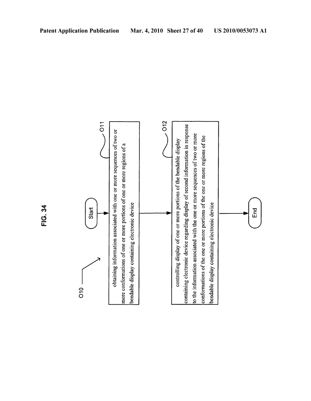 Display control based on bendable display containing electronic device conformation sequence status - diagram, schematic, and image 29