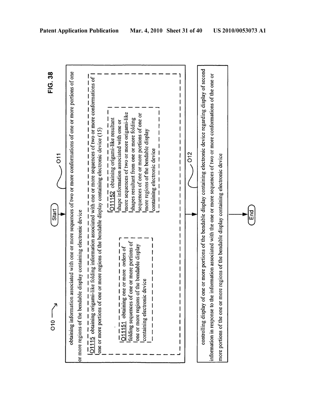 Display control based on bendable display containing electronic device conformation sequence status - diagram, schematic, and image 33