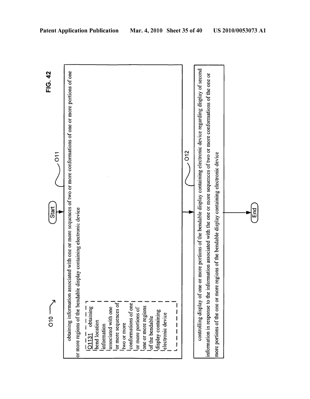 Display control based on bendable display containing electronic device conformation sequence status - diagram, schematic, and image 37