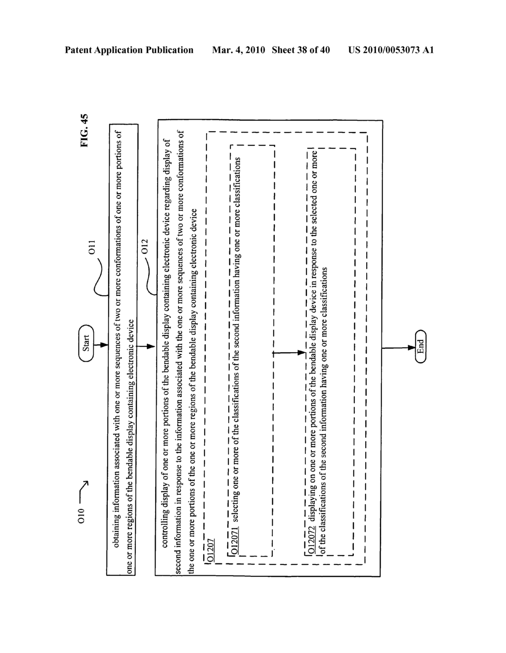 Display control based on bendable display containing electronic device conformation sequence status - diagram, schematic, and image 40