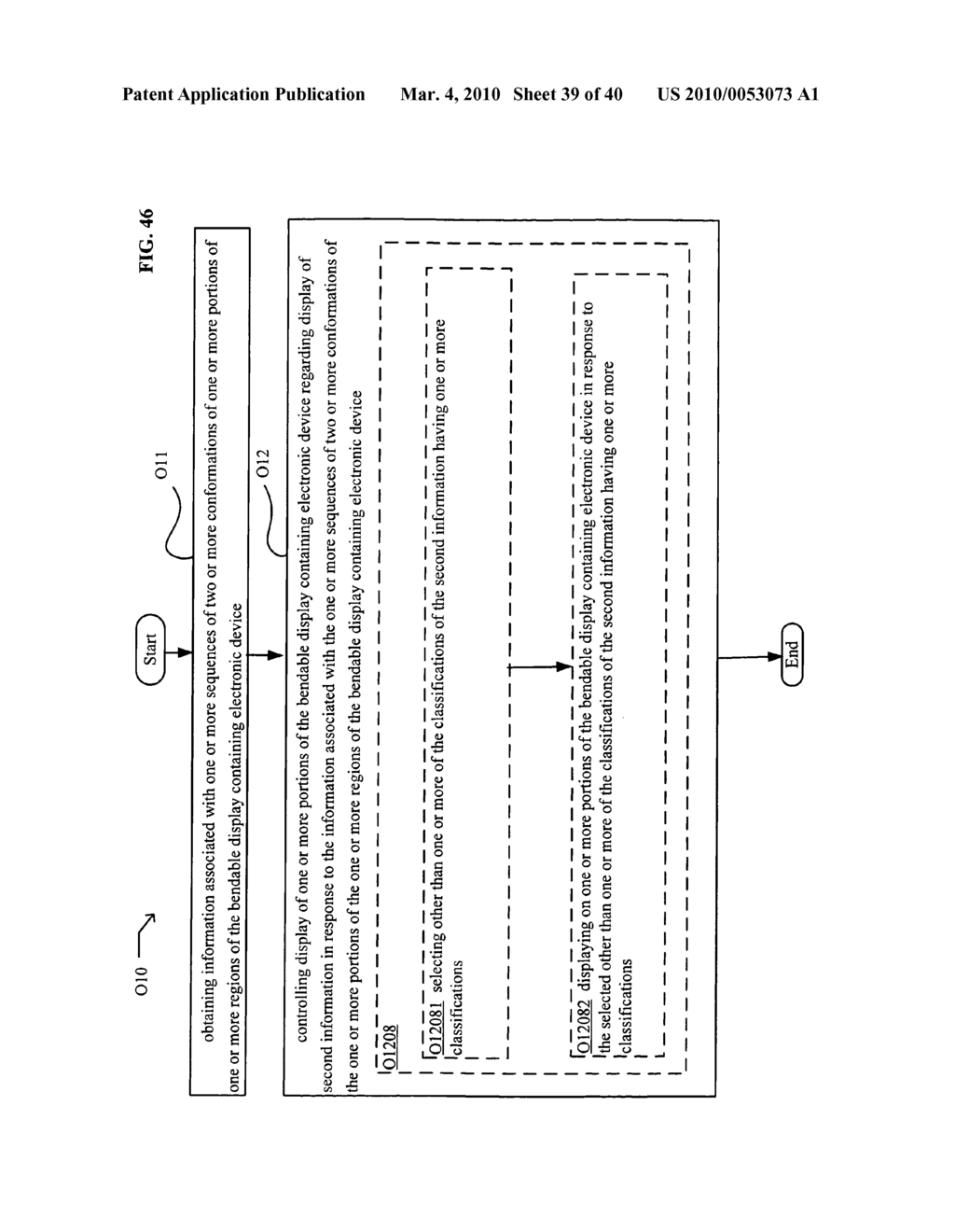 Display control based on bendable display containing electronic device conformation sequence status - diagram, schematic, and image 41