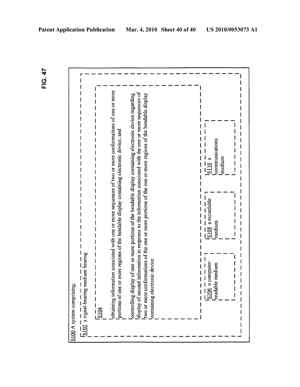 Display control based on bendable display containing electronic device conformation sequence status - diagram, schematic, and image 42