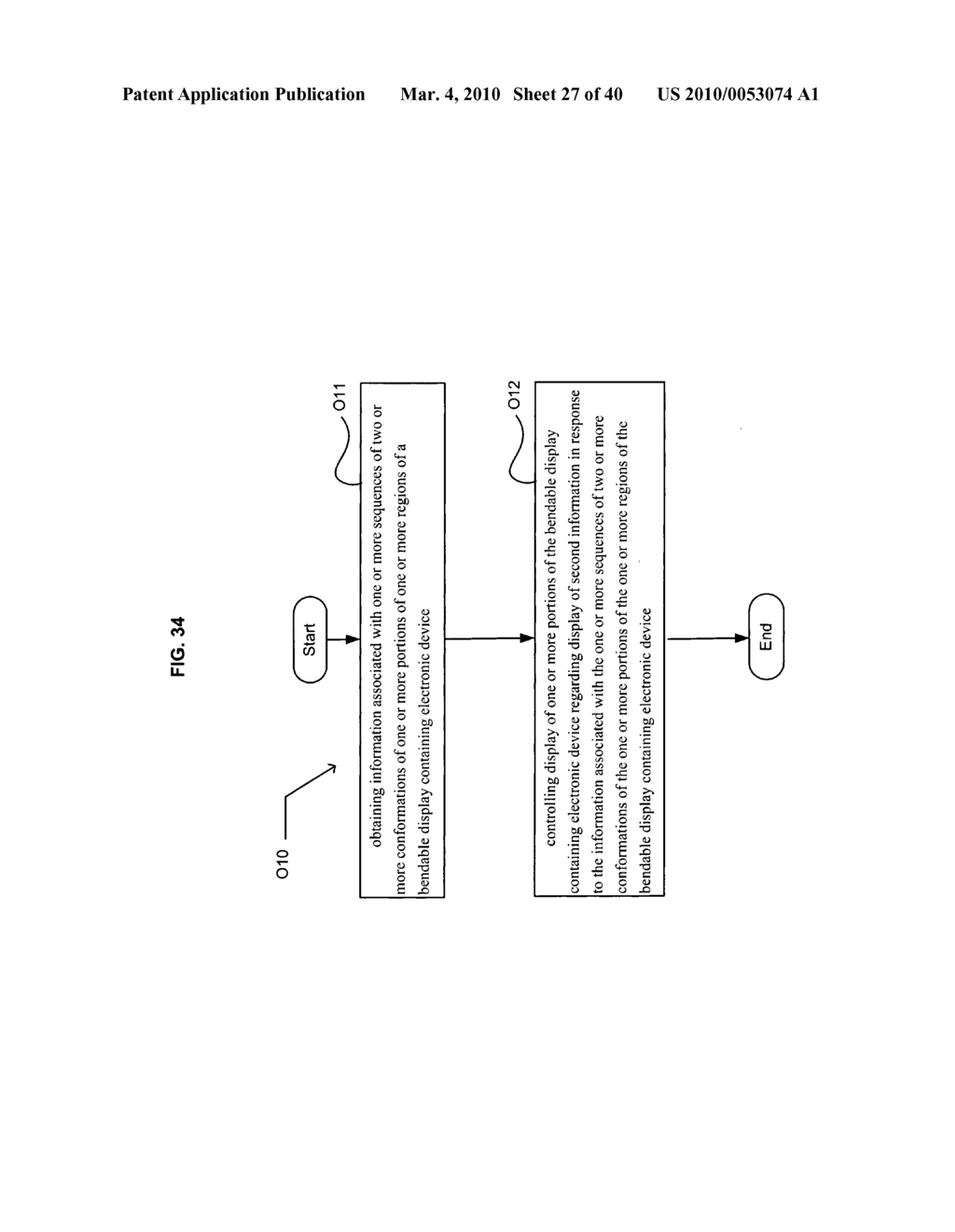 Display control based on bendable display containing electronic device conformation sequence status - diagram, schematic, and image 28