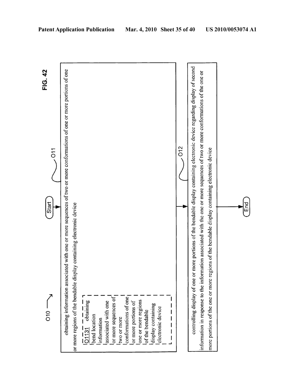Display control based on bendable display containing electronic device conformation sequence status - diagram, schematic, and image 36