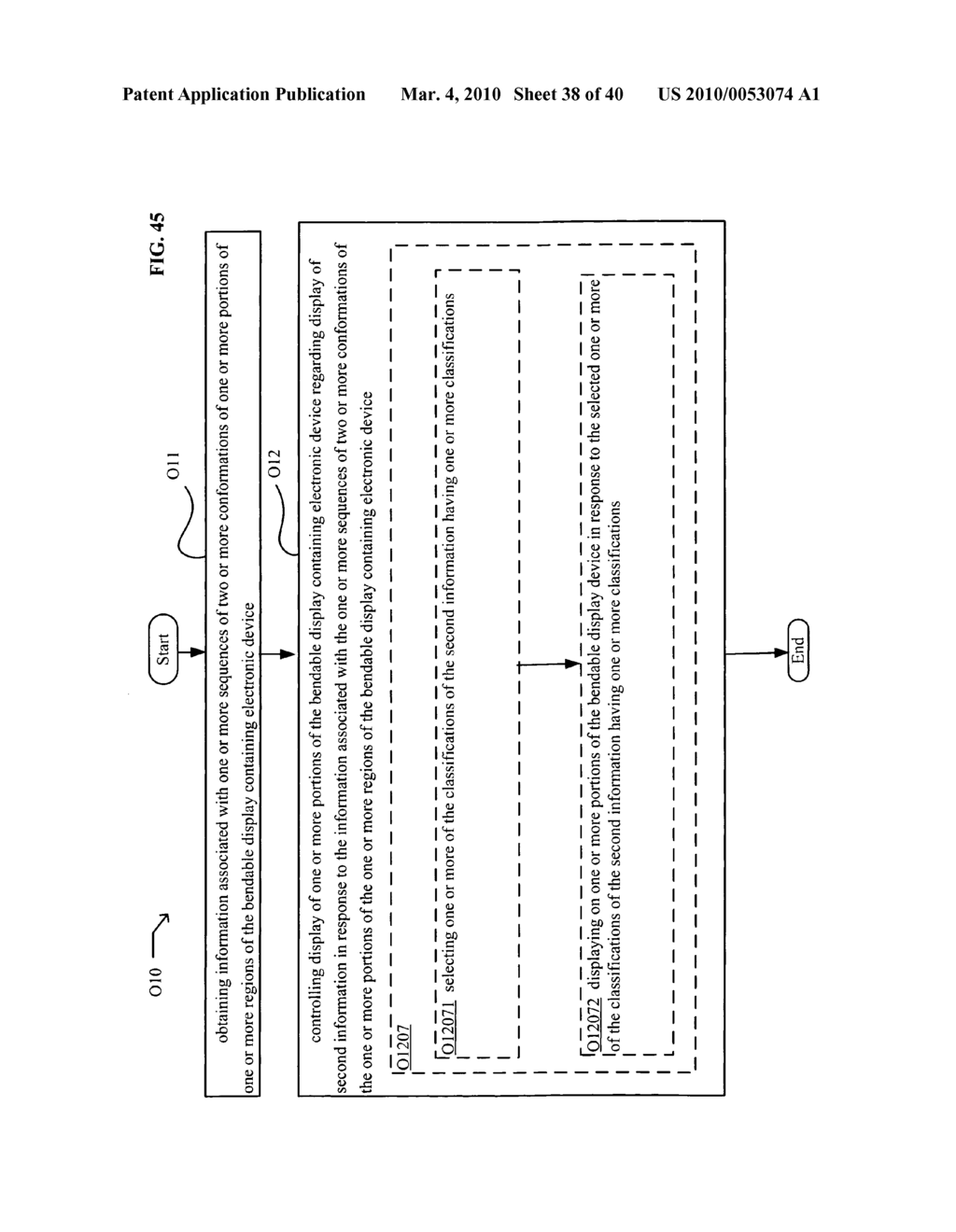 Display control based on bendable display containing electronic device conformation sequence status - diagram, schematic, and image 39