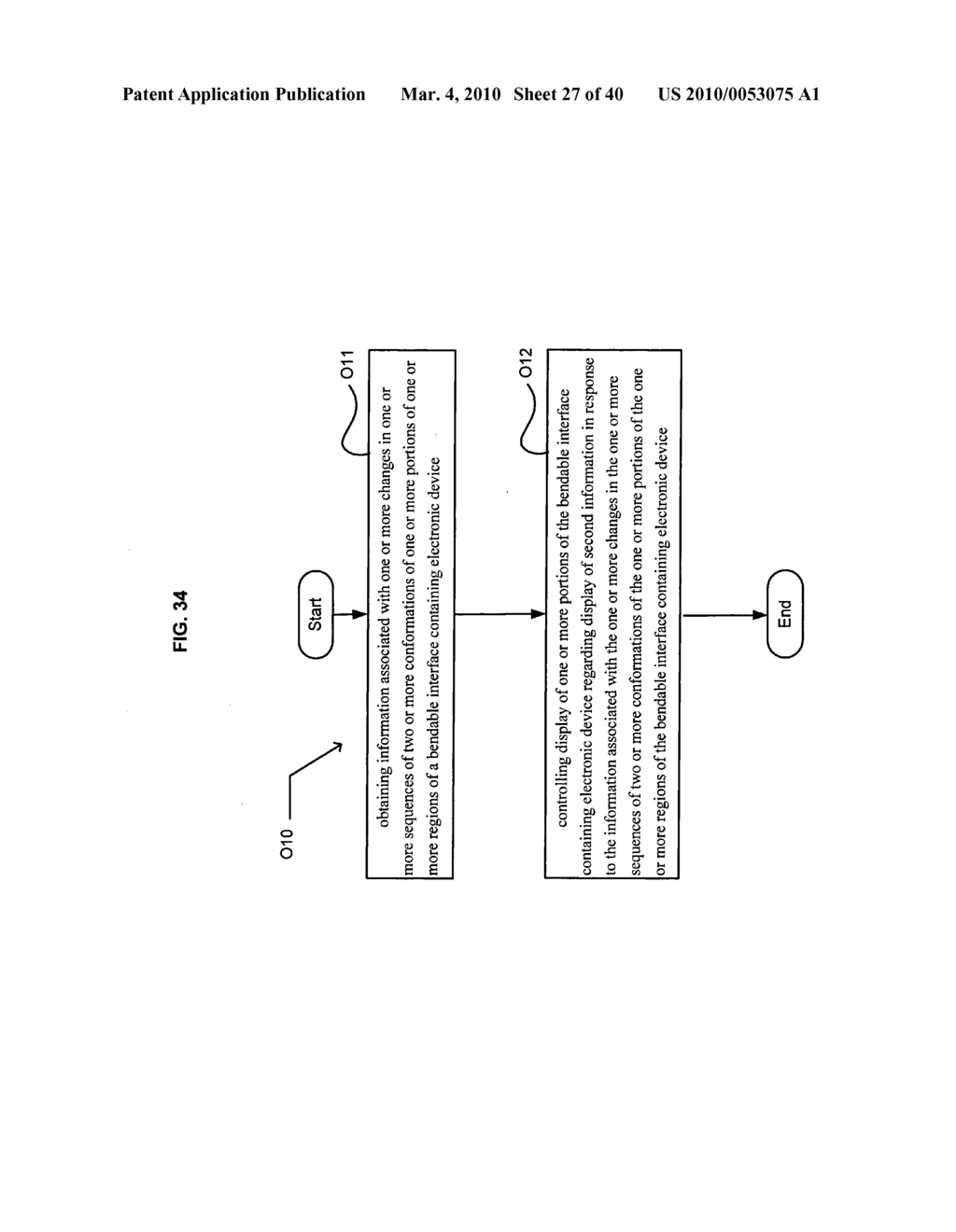 Display control based on bendable interface containing electronic device conformation sequence status - diagram, schematic, and image 29