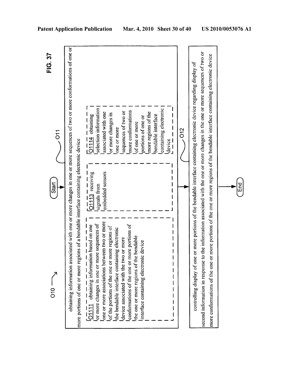 Display control based on bendable interface containing electronic device conformation sequence status - diagram, schematic, and image 32