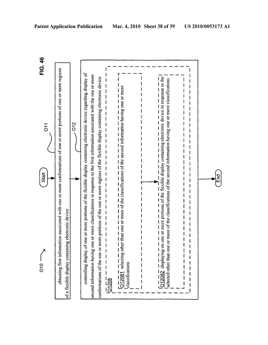 Display control of classified content based on flexible display containing electronic device conformation - diagram, schematic, and image 39