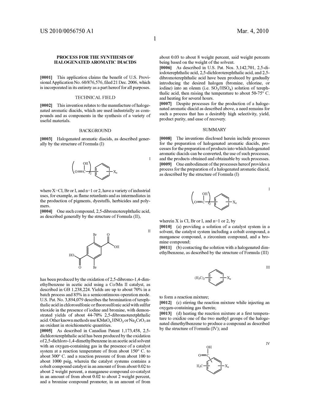 PROCESS FOR THE SYNTHESIS OF HALOGENATED AROMATIC DIACIDS - diagram, schematic, and image 02