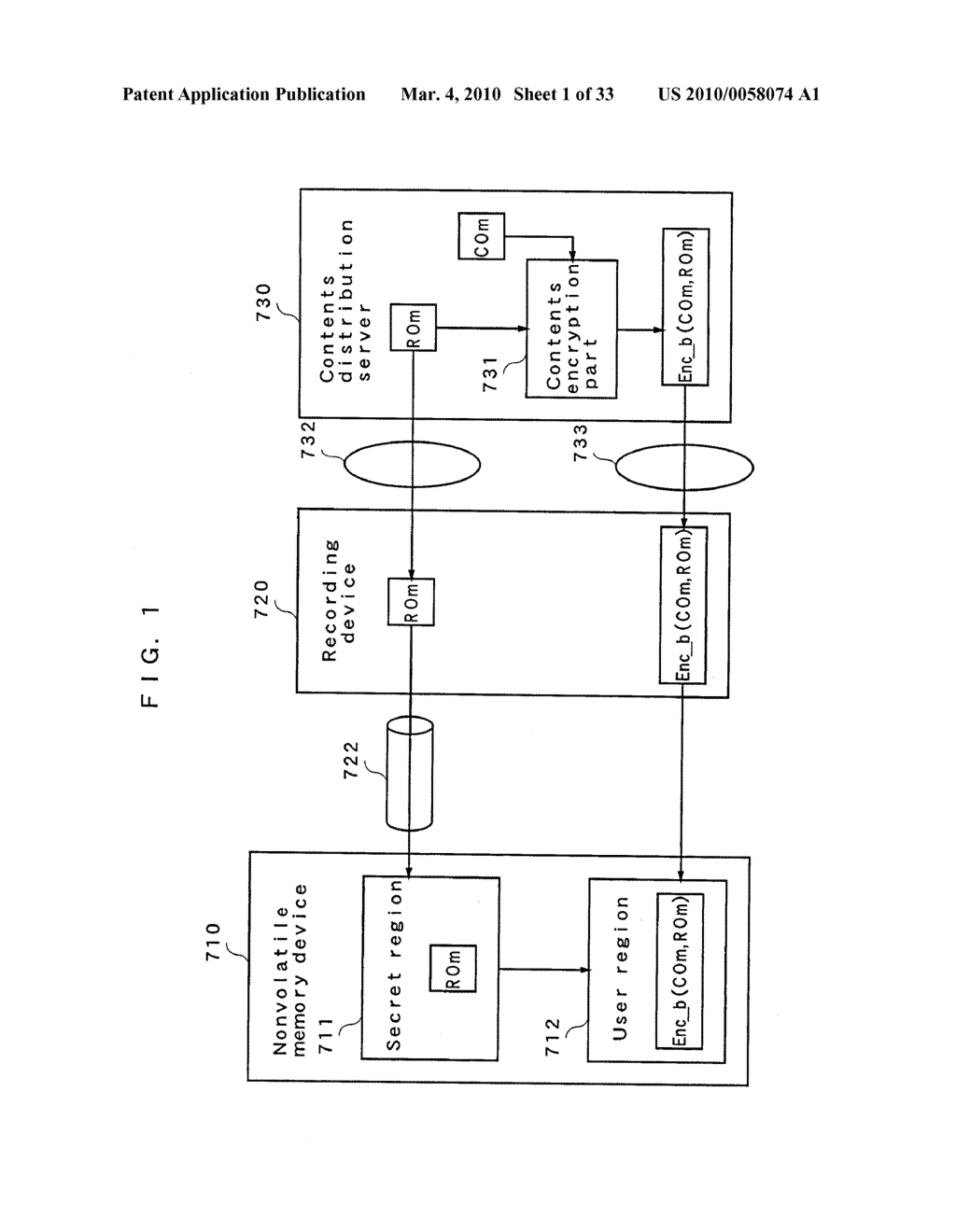 RIGHT INFORMATION ENCRYPTION MODULE, NONVOLATILE MEMORY DEVICE, RIGHT INFORMATION RECORDING SYSTEM, RIGHT INFORMATION DECRYPTION MODULE, RIGHT INFORMATION READING SYSTEM, AND RIGHT INFORMATION RECORDING/READING SYSTEM - diagram, schematic, and image 02